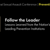 Thumbnail image for 2018 National Sexual Assault Conference: Follow the Leader: Lessons Learned from the Nation's Leading Prevention Institutions