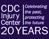 CDC injury center 20 year anniversary logo