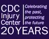 CDC injury center 20 year anniversary logo