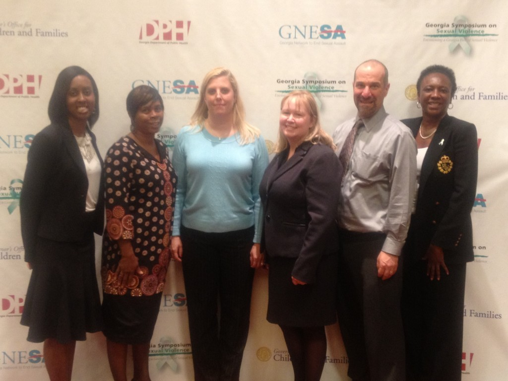 PreventConnect's David Lee with the organizers of the Georgia Symposium on Sexual Violence from the Georgia Network to End Sexual Assault, Governor's Office for Children and Families, and the Georgia Department of Public Health.