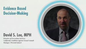David Lee on Evidence based decision-making