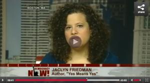 Jaclyn Friedman on TV