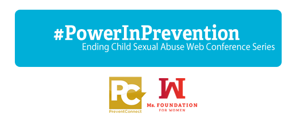 "web conference logo ""#PowerInPrevention"" with Prevent Connect and Ms. Logos"