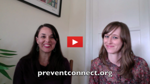 screen capture of Annie Lyles and Ashley Maier sitting side by side with preventconnect.org as the caption