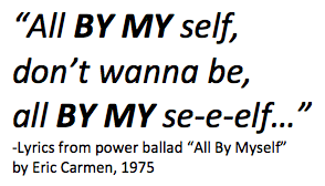 All by myself lyrics.