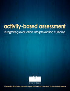 TAASA Activity based Assessment toolkit Cover