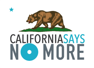 California Says No MOre with grizzley bear from California flag
