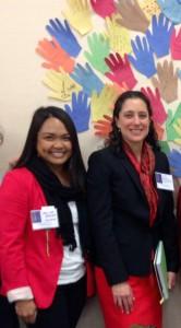 """CALCASA's Imelda Buncab and White House Advisor on Violence Against Women, Caroline """"Carrie"""" Bettinger-Lopez"""