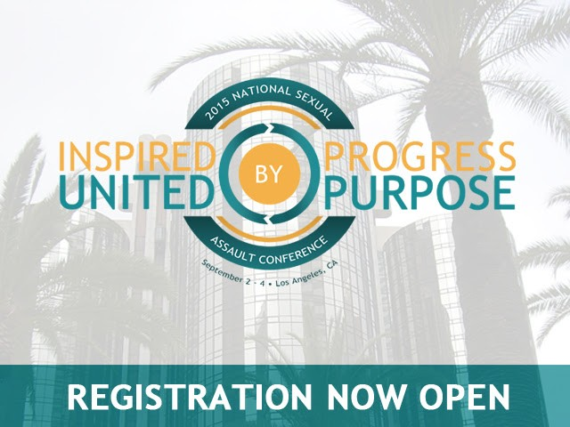 Inpsired by Progress, UNited by Purpose National Sexual Assault Conference Registration now open