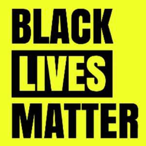 Black Lives Matter - yellow background