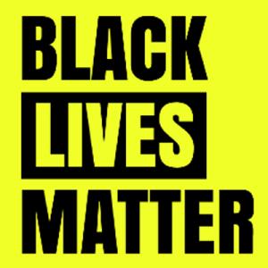 Black Lives Matter - yellow background