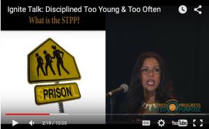 Nubia Pena discussed the school to prison pipeline in her Ignite talk.