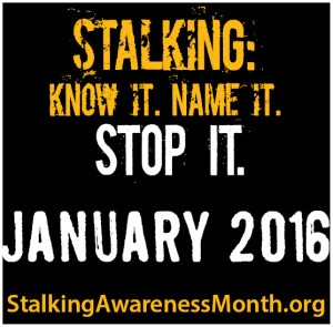 National Stalking Awareness Month Banner