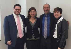 Left to Right: Alex Leslie, Ann Brandon , David Lee and Vanessa Stampel