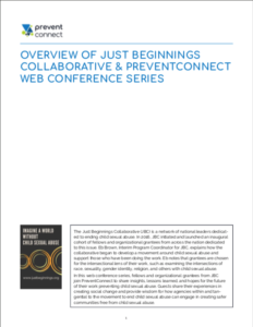 Screenshot of the first page of the summaries. Access the summaries here: http://www.preventconnect.org/wp-content/uploads/2019/03/JBC-Web-Conference-2019-Summaries.pdf