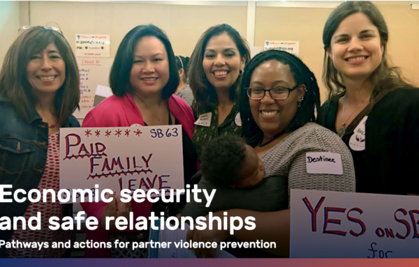 Economic security and safe relationships: Pathways and actions for partner violence prevention