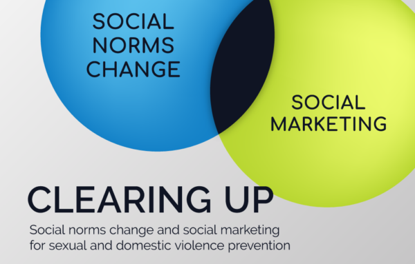 Clearing Up Social Norms Change and Social Marketing for Sexual and Domestic Violence Prevention