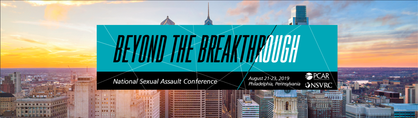 beyond the breakthrough image for the 2019 National Sexual Assault Conference