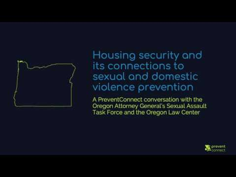 Housing Security and its Connections to Sexual and Domestic Violence Prevention