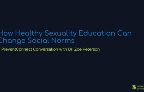 How Healthy Sexuality Education Can Change Social Norms