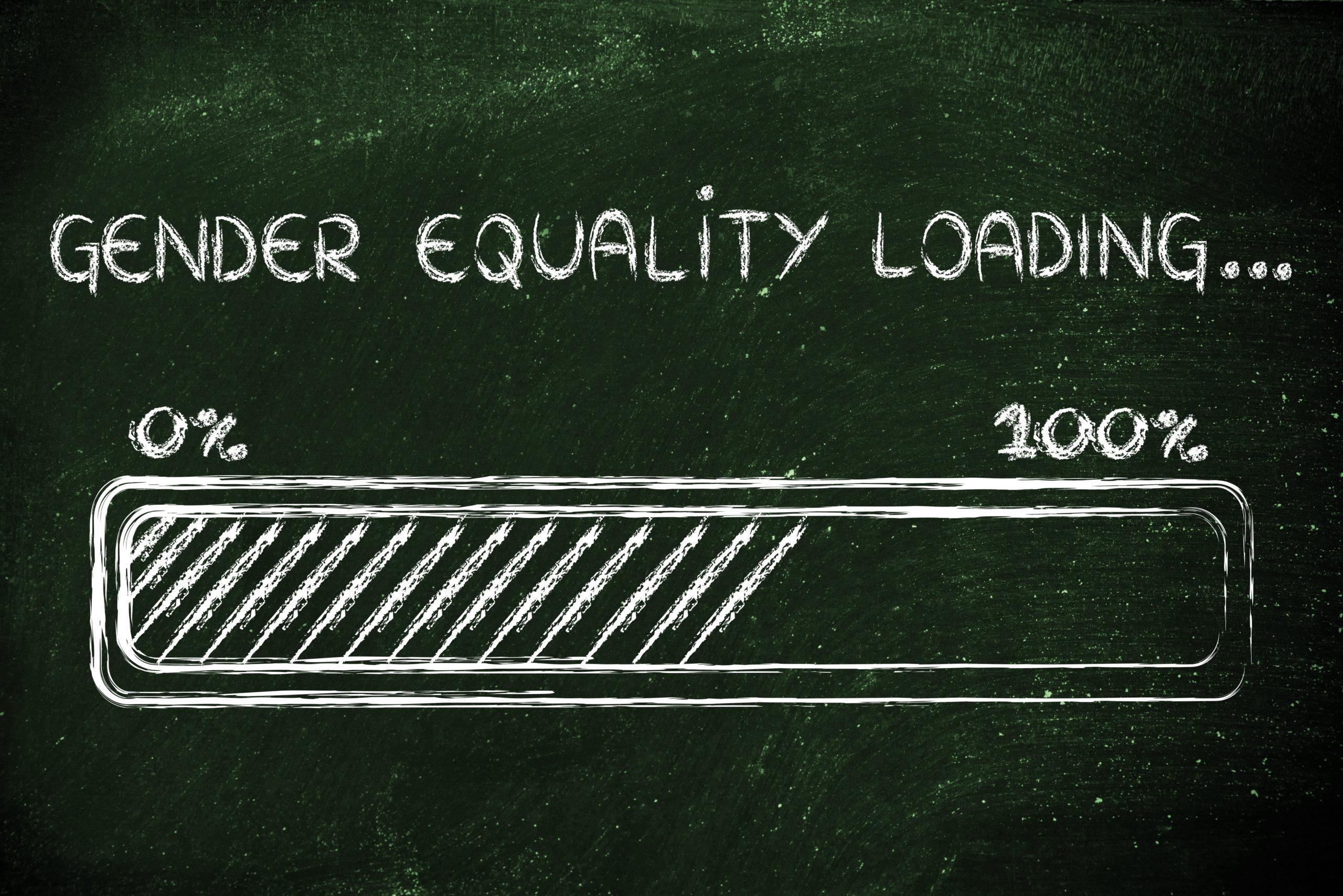 progress bar metaphorically loading more gender equality