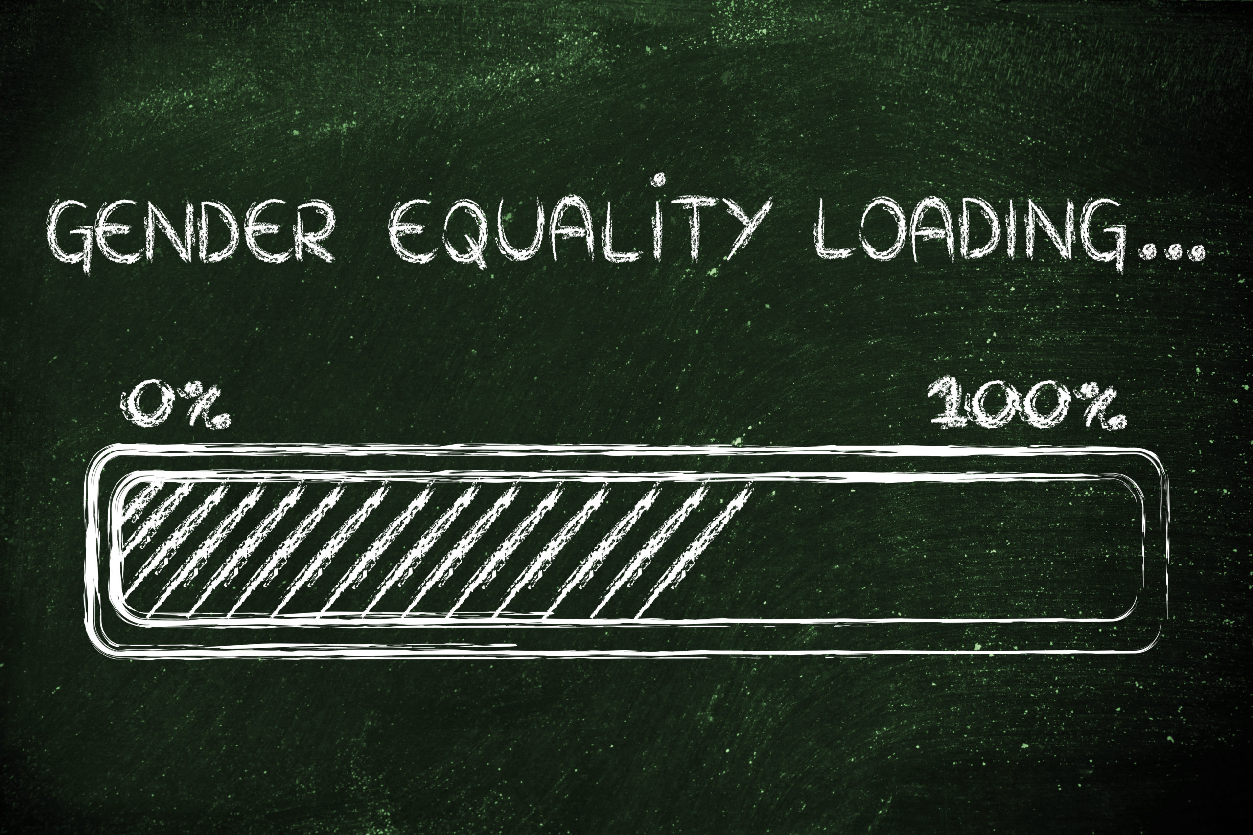 progress bar metaphorically loading more gender equality