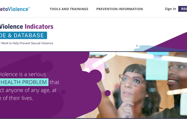 CDC's VetoViolence Launches Sexual Violence Indicators Guide and Database