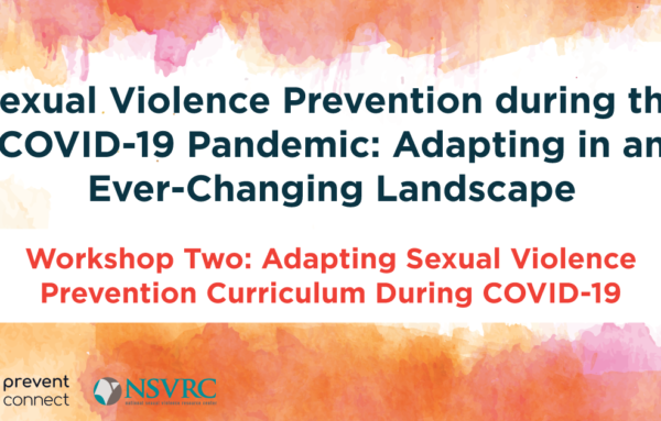 Adapting Sexual Violence Prevention Curriculum During COVID-19
