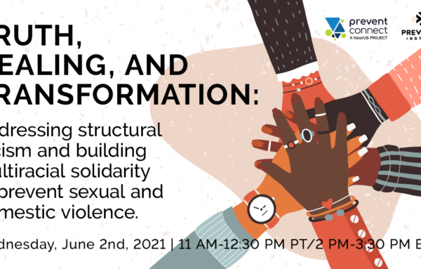 Truth, healing, and transformation: Addressing structural racism and building multiracial solidarity to prevent sexual and domestic violence