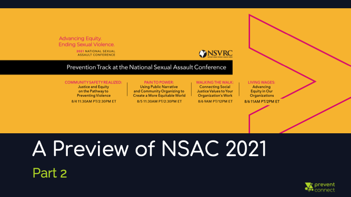 A preview of NSAC 2021: Part 2