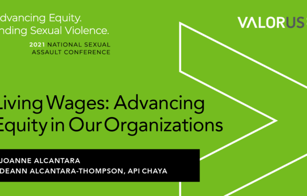 Living Wages: Advancing Equity in Our Organizations