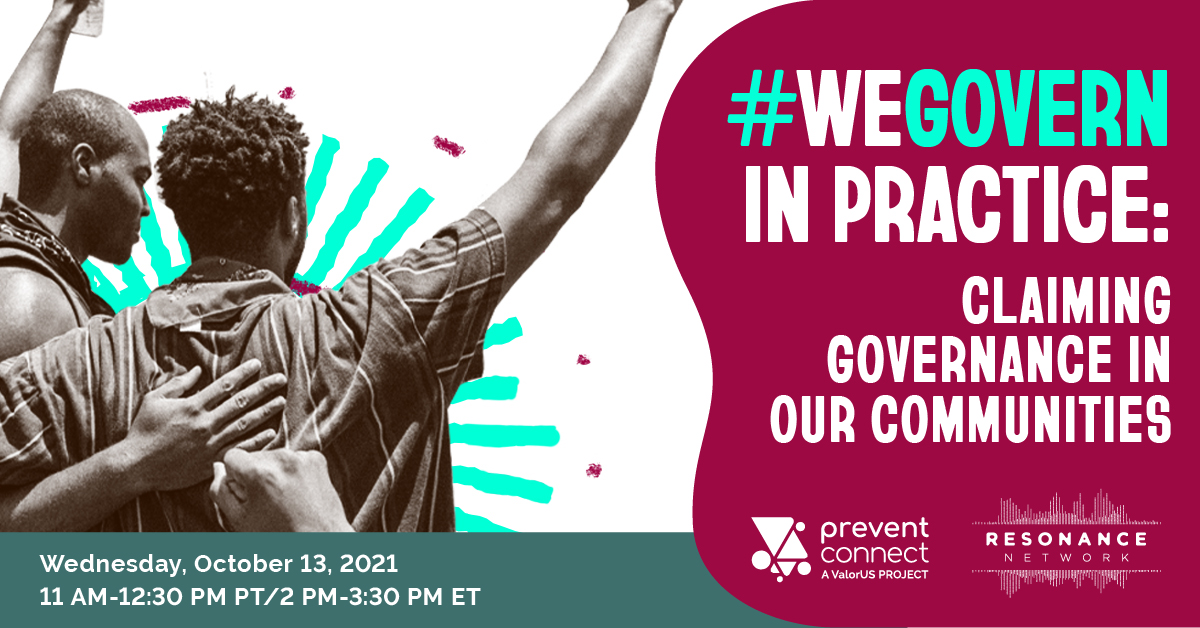 WeGovern in practice: Claiming governance in our communities