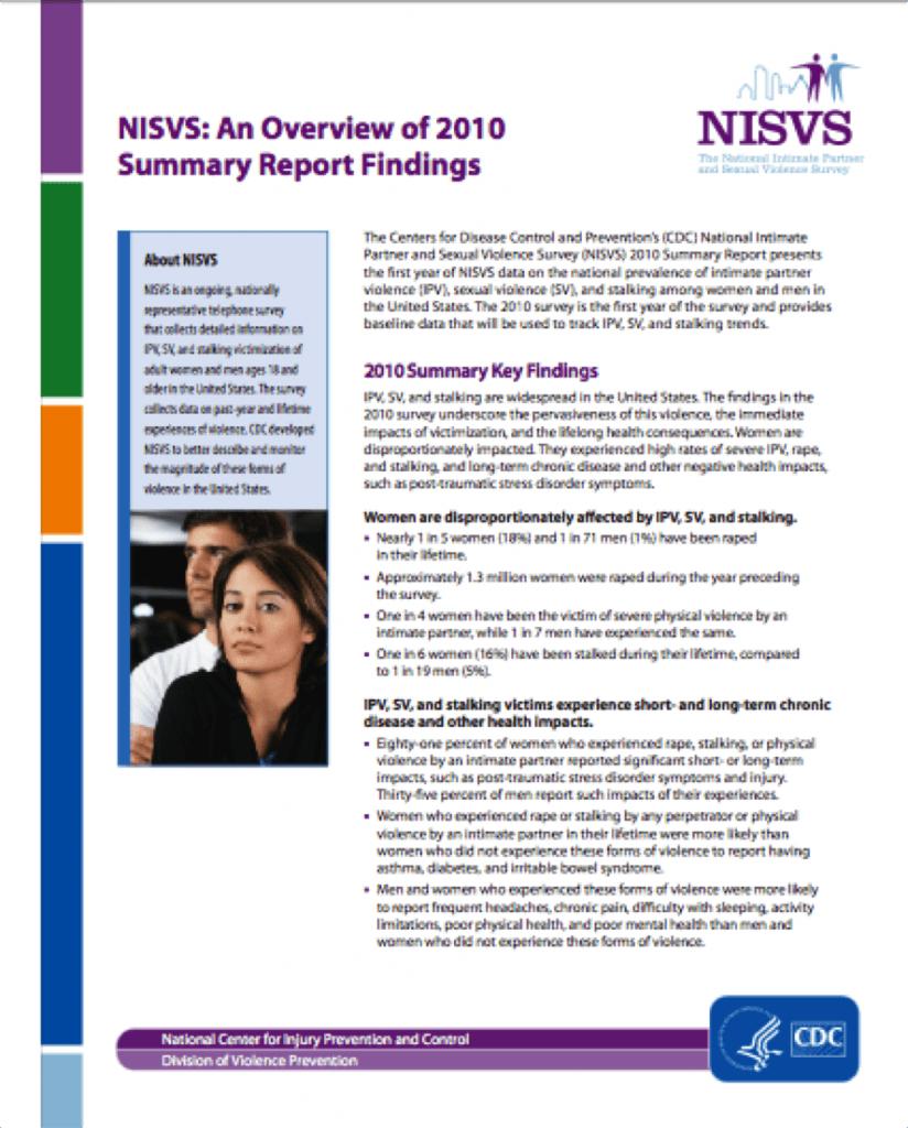 NISVS Fact Sheet