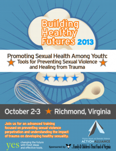 Promoting Sexual Health Among Youth training flyer
