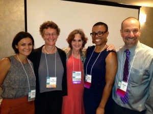 Natalie Sullivan from the Ms. Foundation for Women with the PreventConnect/CALCASA Ending Child Sexual Abuse Web Conference team: Joan Tabachnick, Cordelia Anderson, Leona Smith-DiFaustino