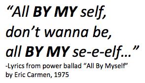 All by myself lyrics.