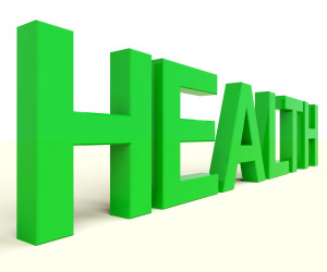 Health Word In Green Showing Healthy Conditions