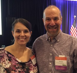 Annie Lyles and David Lee at the National Conference on Health and Domestic Violence