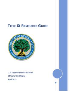 Title IX Resource Guide
