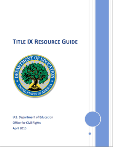 Title IX Resource Guide