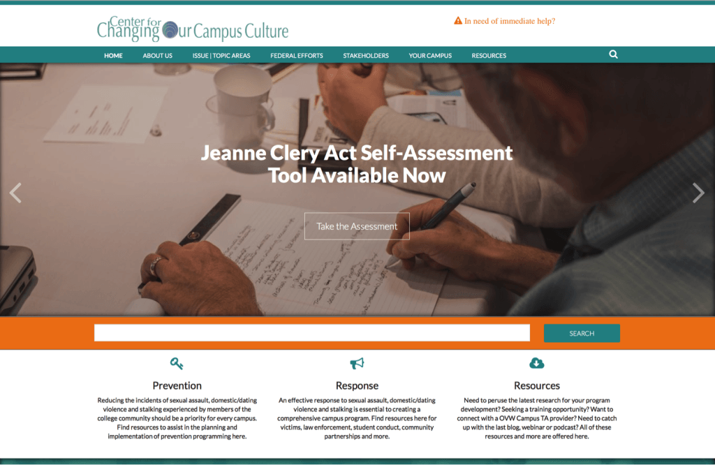 home page of http://www.changingourcampus.org/