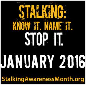 National Stalking Awareness Month Banner