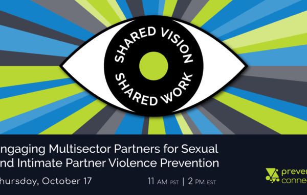 Shared Vision, Shared Work: Engaging Multisector Partners for Sexual and Intimate Partner Violence Prevention