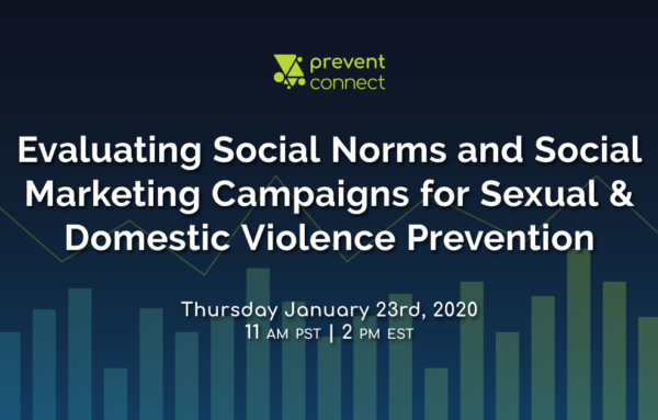 Evaluating Social Norms and Social Marketing Campaigns for Sexual and Domestic Violence Prevention