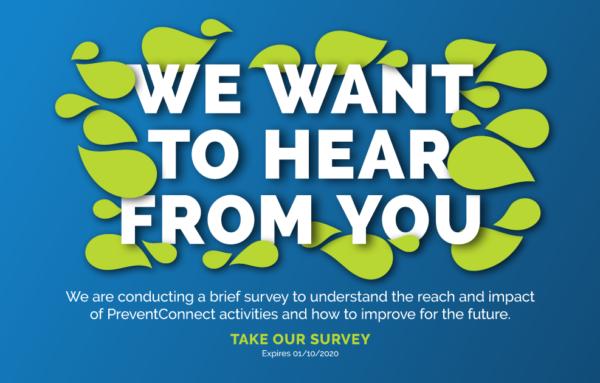 Take the PreventConnect Annual Survey