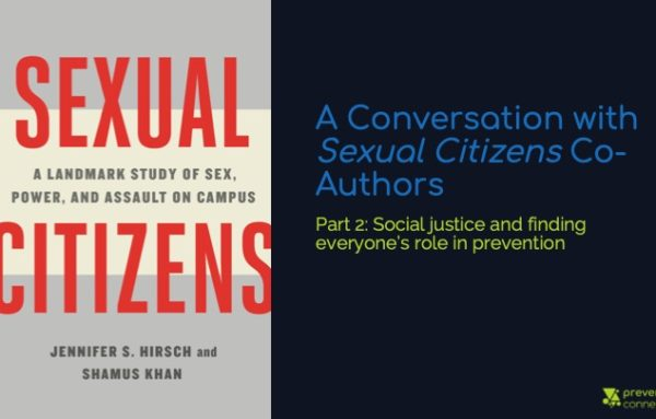 A Conversation with Sexual Citizens Co-Authors Part 2: Social justice and finding everyone's role in prevention