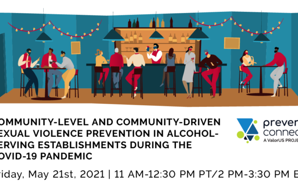 Community-Level and Community-Driven Sexual Violence Prevention in Alcohol-Serving Establishments During the COVID-19 Pandemic