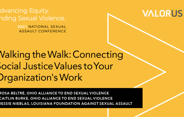 Walking the Walk: Connecting Social Justice Values to Your Organization's Work