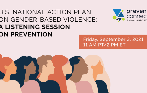 """Summary of """"U.S. National Action Plan on Gender-Based Violence: A Listening Session on Prevention"""""""