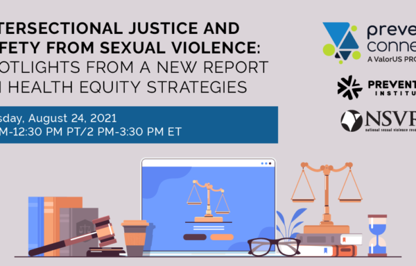 Health Equity Approaches to Prevent Sexual Violence